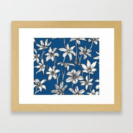 Blue Glory of the Snow Framed Art Print