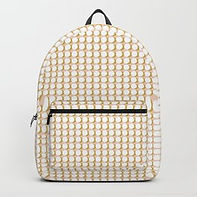 Making Marks Dots Pink/Mustard/White Backpack