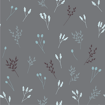 Grey Floral Branches