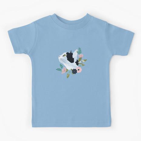 Floral Cat Kids T-Shirt