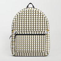 Making Marks Dots Mustard/Navy/White Backpack