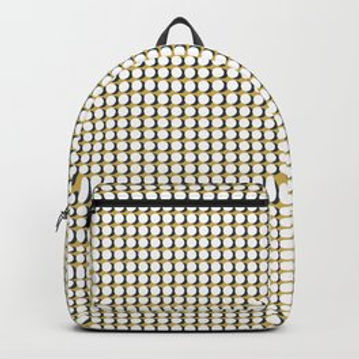 Making Marks Dots Mustard/Navy/White Backpack