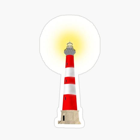 Lighthouse Glossy Sticker