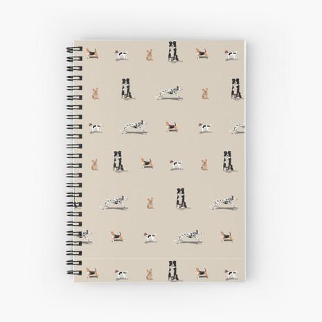 Dog Print Spiral Notebook