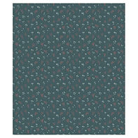 Teal Floral Branches #2 Curtains