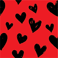 Black Hearts on Red