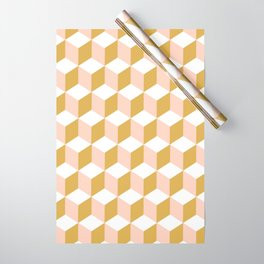 Making Marks Cube Illusion Light Wrapping Paper