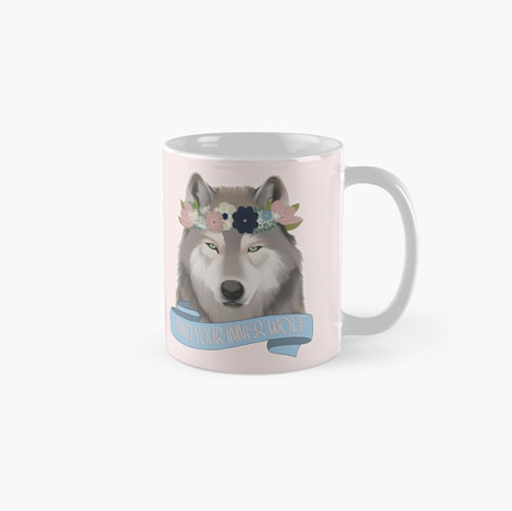 Floral Wolf - Find Your Inner Wolf Classic Mug