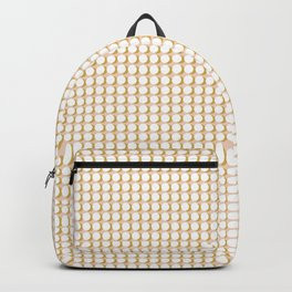 Making Marks Dots Pink Mustard White Backpack
