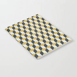 Making Marks Cube Illusion Blue Notebook