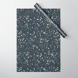 Making Marks Splatter Navy Wrapping Paper