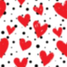 Red Hearts & Black Polka