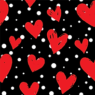 Red Hearts & White Polka
