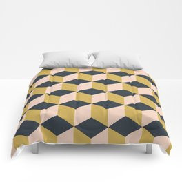 Making Marks Cube Illusion Dark Comforter