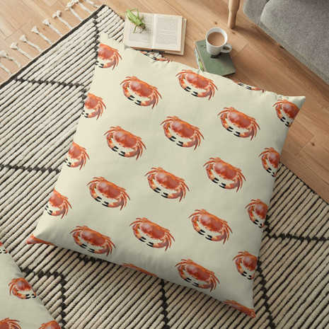 Crab Floor Pillow