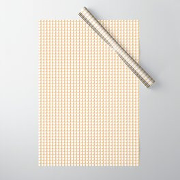 Making Marks Dots Pink Mustard White Wrapping Paper