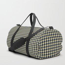 Making Marks Dots Navy Mustard Grey Duffle Bag