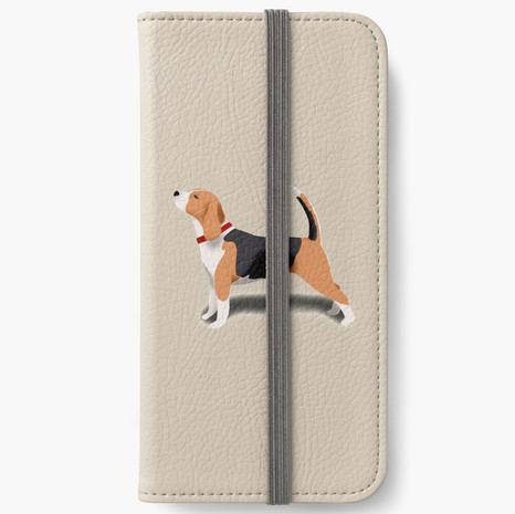 Beagle iPhone Wallet