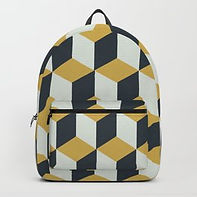 Making Marks Cube Illusion Blue Backpack
