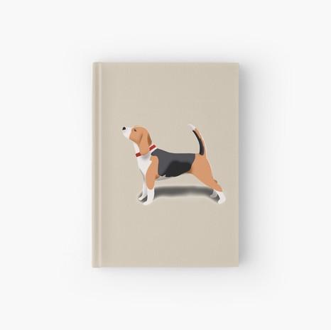 Beagle Hardcover Journal