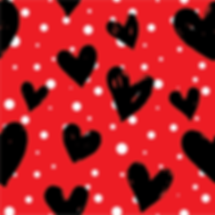 Black Hearts & White Polka