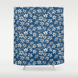Blue Glory of the Snow Shower Curtain