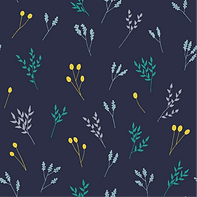 Blue Floral Branches