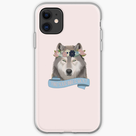 Floral Wolf - Find Your Inner Wolf iPhone Soft Case