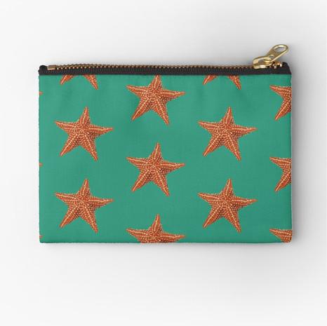 Starfish Zipper Pouch