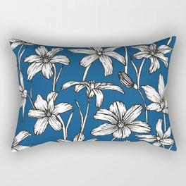 Blue Glory of the Snow Rectangular Pillow