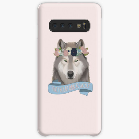 Floral Wolf - Find Your Inner Wolf Samsung Galaxy Snap Case