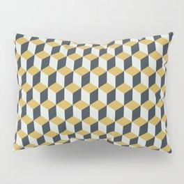 Making Marks Cube Illusion Blue Pillow Sham
