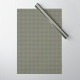 Making Marks Dots Navy Mustard Grey Wrapping Paper