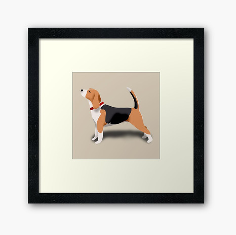Beagle Framed Art Print