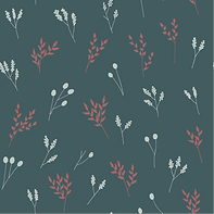 Teal Floral Branches #2