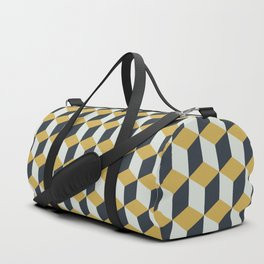 Making Marks Cube Illusion Blue Duffle Bag