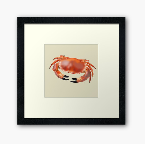 Crab Framed Art Print