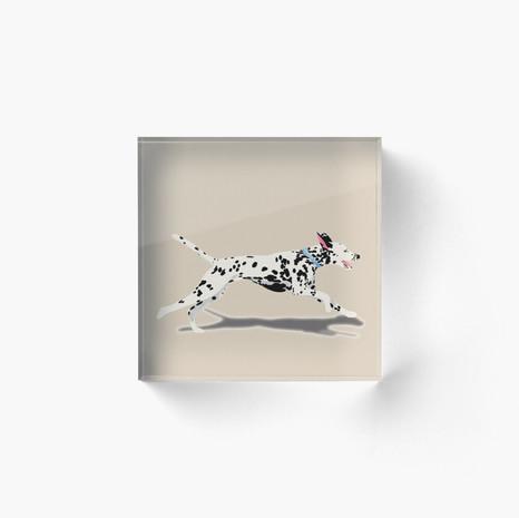 Dalmatian Acrylic Block