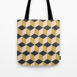 Making Marks Cube Illusion Dark Tote Bag