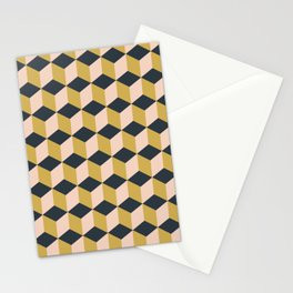 Making Marks Cube Illusion Dark Stationery Card