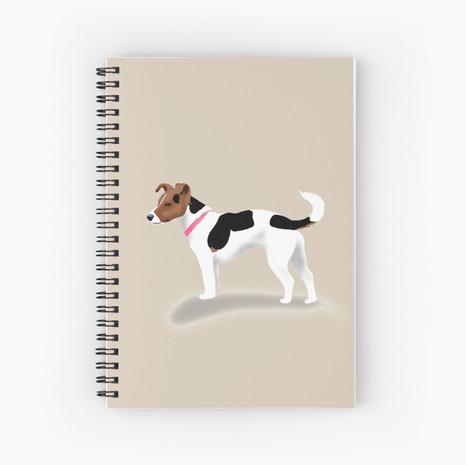 Jack Russell Spiral Notebook