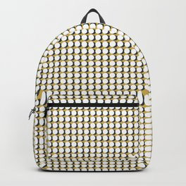 Making Marks Dots Mustard Navy White Backpack