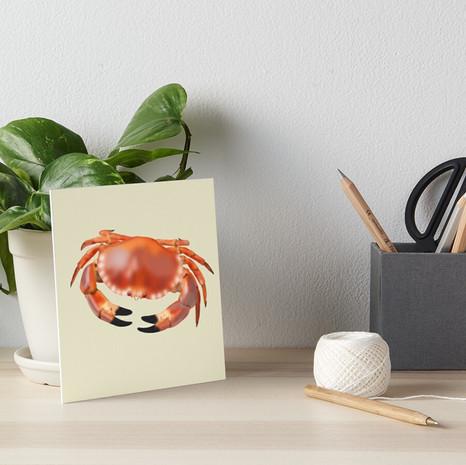 Crab Art Board Print