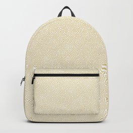 Making Marks Textured Surface White Mustard Backpack