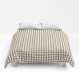 Making Marks Dots Mustard Navy White Comforter