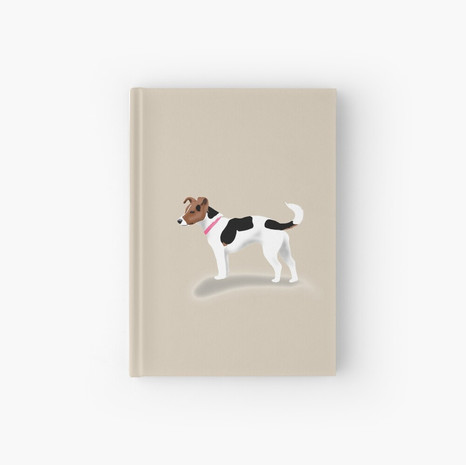 Jack Russell Hardcover Journal