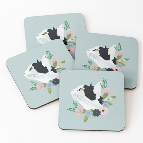 Floral Cat Coasters