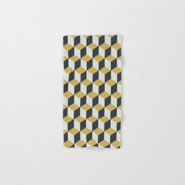 Making Marks Cube Illusion Blue Bath Towel