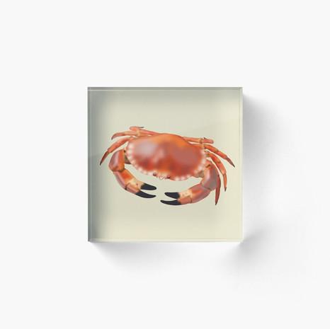 Crab Acrylic Block