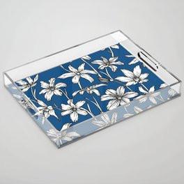 Blue Glory of the Snow Acrylic Tray